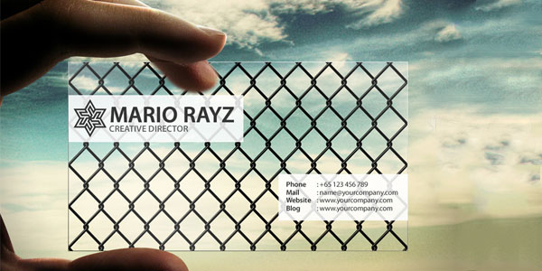 Exclusive Transparent Business 60+ Cool Transparent Business Card Designs