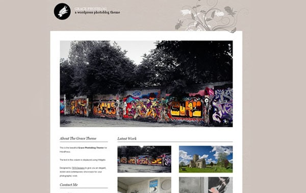 Grace Photoblog 15+ Free Photography website templates