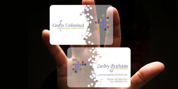 Grafix Unlimited Plastic 60+ Cool Transparent Business Card Designs