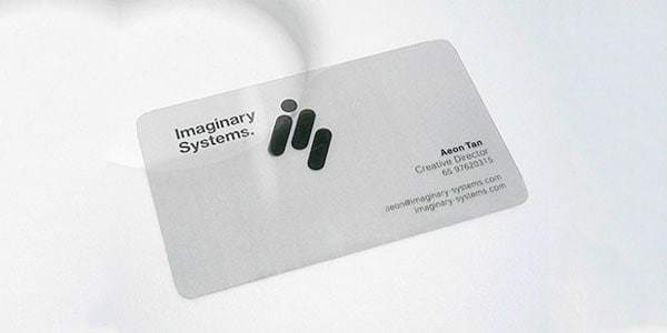 Imaginary Systems Business Card 60+ Cool Transparent Business Card Designs