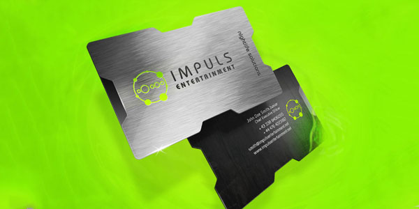 Impuls Business Card1 30+ Awesome Metal Business Card Designs