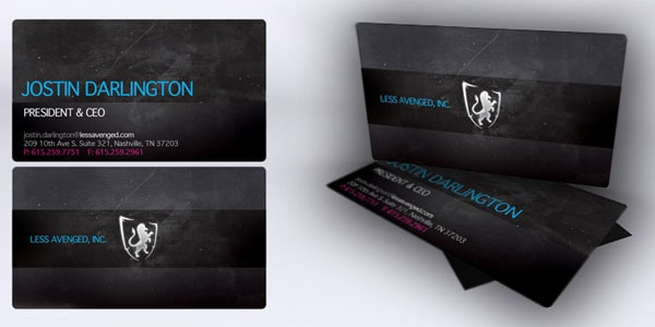 Less Avenged Records Cards by kmdigital 60+ Embossed Business Cards for Inspiration