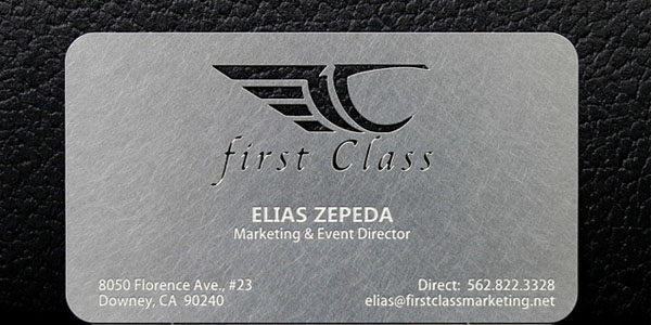 Marketing Metal business card 30+ Awesome Metal Business Card Designs