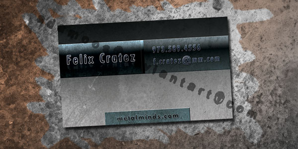 Metal Business Card by Adamoos 30+ Awesome Metal Business Card Designs
