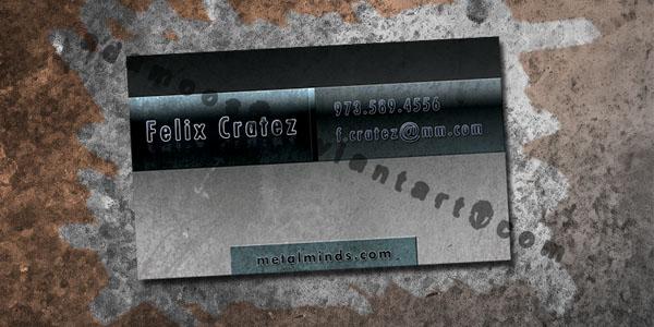Metal Business Card by Adamoos