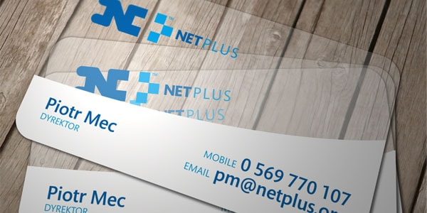 NetPlus ID 60+ Cool Transparent Business Card Designs