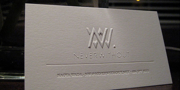 Never Without 60+ Embossed Business Cards for Inspiration