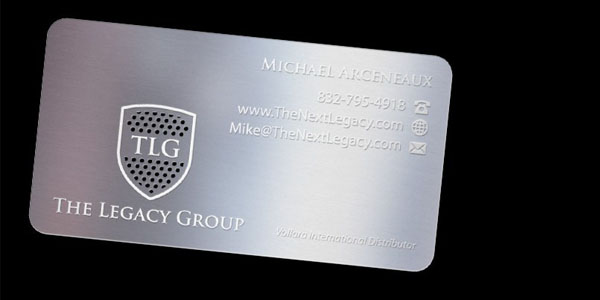 New mini metal Business Cards