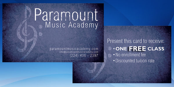 Paramount Music Academy Business Card 50+ Dj Music Business Cards & Designs