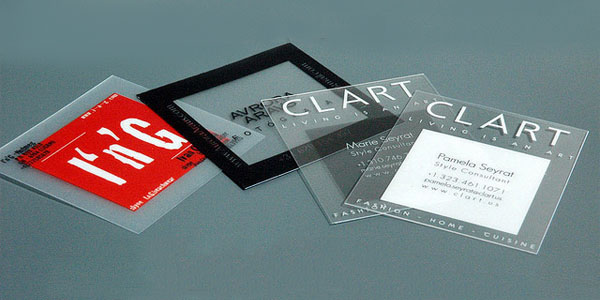 Quadratische transparente Visitenkarten 60+ Cool Transparent Business Card Designs