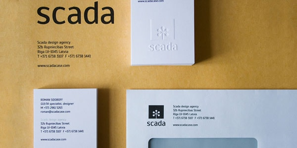 Scada Updated Corporate Style 60+ Embossed Business Cards for Inspiration