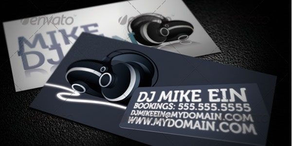 Dj Music Business Cards Designs - Dj business card template