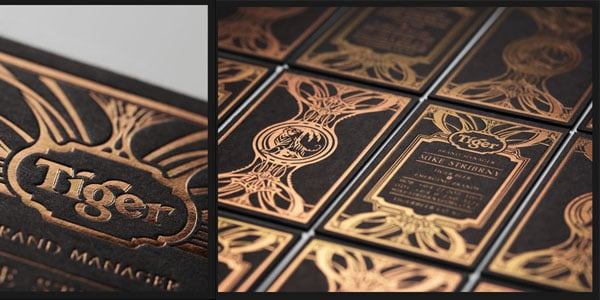 Tiger Beer Brand work 60+ Embossed Business Cards for Inspiration