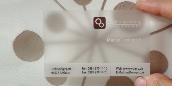 Translucent Frosted Plastic BusinessCard 60+ Cool Transparent Business Card Designs