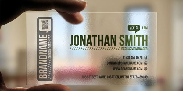 Transparent Business Card 60+ Cool Transparent Business Card Designs