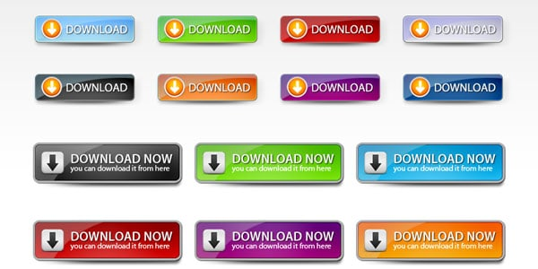 Web 2 Download Buttons Set 20+ Free PSD Upload Download buttons