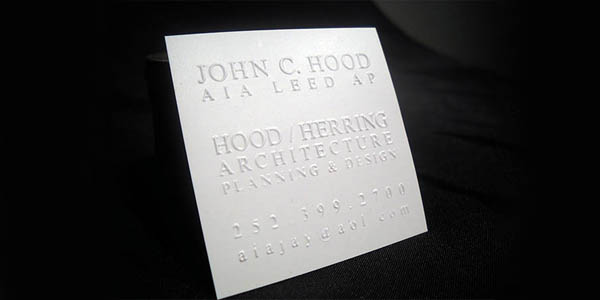 White Silk Blind 60+ Embossed Business Cards for Inspiration