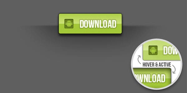 android download button 20+ Free PSD Upload Download buttons