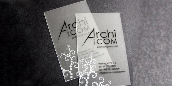 archi 60+ Cool Transparent Business Card Designs