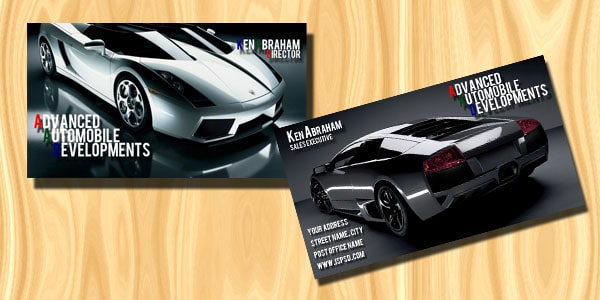 Automobile Business Card PSD