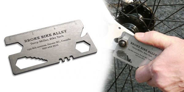 broke bike alley 30+ Awesome Metal Business Card Designs