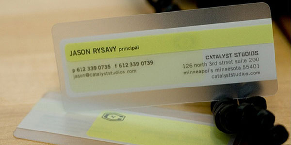 catalyst studios 60+ Cool Transparent Business Card Designs