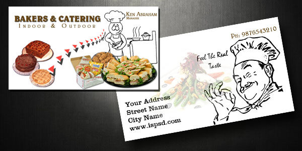 Catering business card psd flashek Gallery
