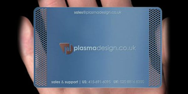 colored metal card 30+ Awesome Metal Business Card Designs