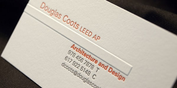 coots letterpress 60+ Embossed Business Cards for Inspiration