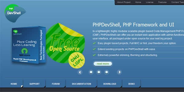 devshell Popular PHP Frameworks For Easy Coding