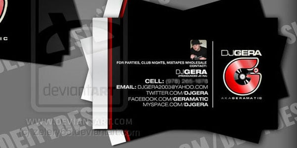 dj gera 50+ Dj Music Business Cards & Designs