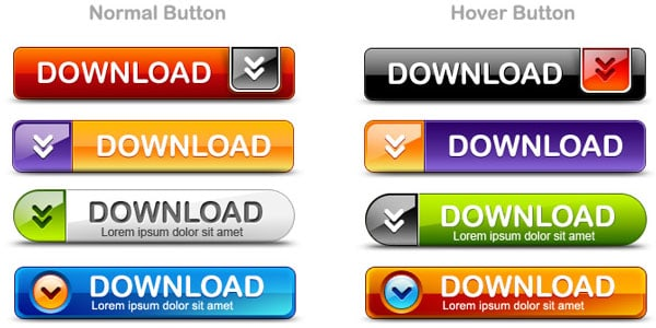 download button pack 20+ Free PSD Upload Download buttons