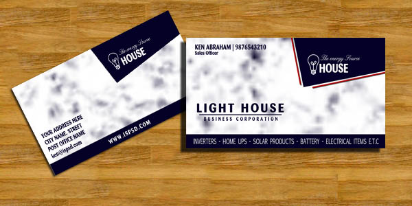 Electrical business card psd colourmoves