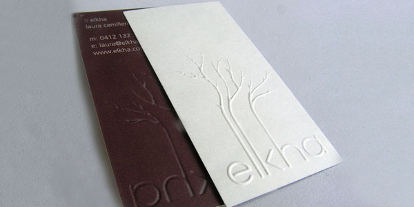 elkha 60+ Embossed Business Cards for Inspiration