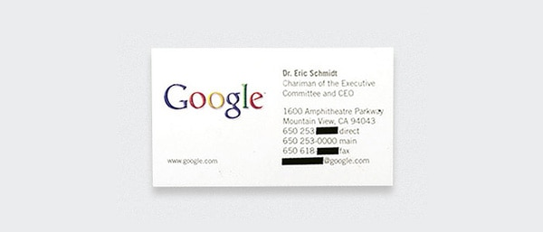 Business Card Design President Ceo