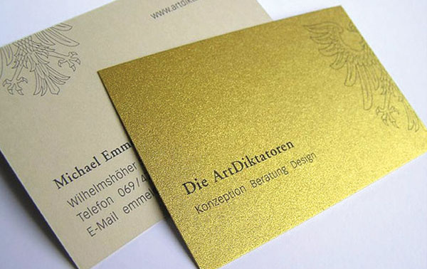 foil card 60+ Embossed Business Cards for Inspiration