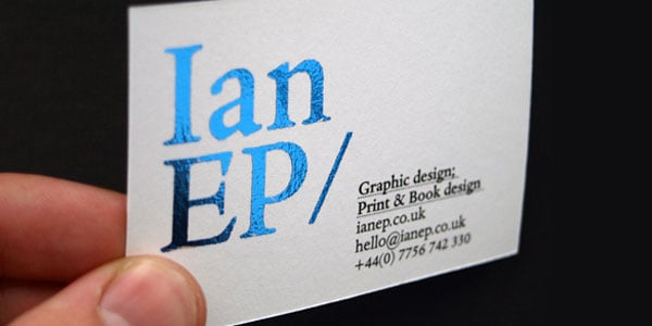 foiled blue businesscard 60+ Embossed Business Cards for Inspiration