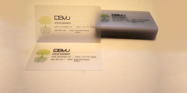 frosted plastic businesscard 60+ Cool Transparent Business Card Designs