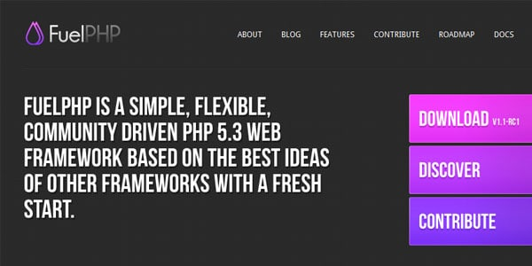 fuelPHP Popular PHP Frameworks For Easy Coding