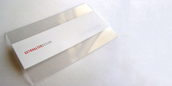geyrhalter 60+ Cool Transparent Business Card Designs