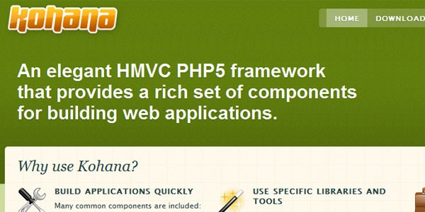 kohana Popular PHP Frameworks For Easy Coding