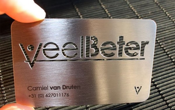 laser engraving 30+ Awesome Metal Business Card Designs