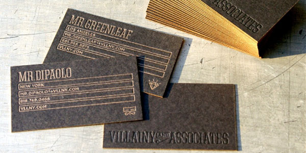 lgvillainyandassociates 60+ Embossed Business Cards for Inspiration