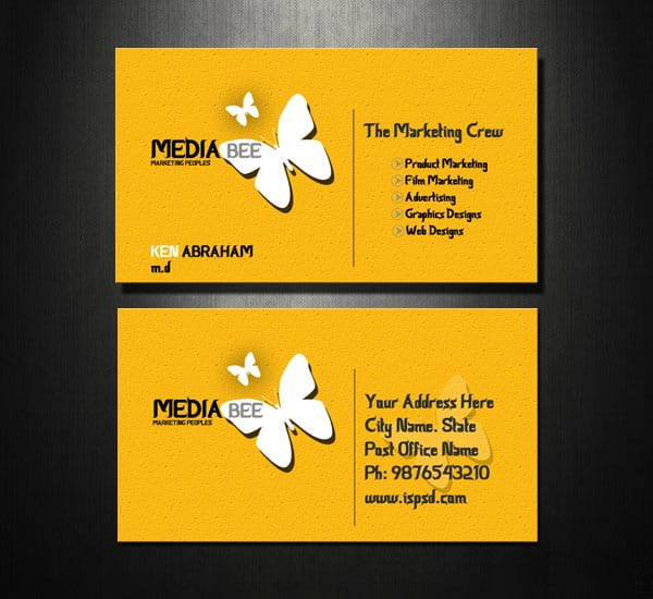 Marketing Business Card Psd