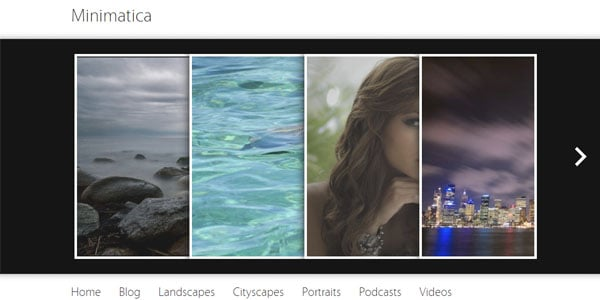 minimatica 15+ Free Photography website templates