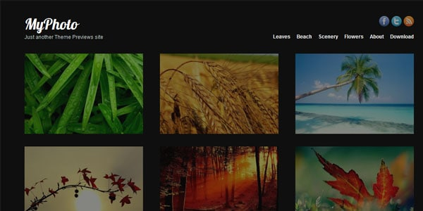 myphoto 15+ Free Photography website templates