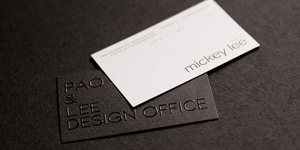 pao lee 60+ Embossed Business Cards for Inspiration