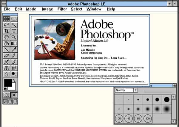 photoshop 2.5 interface