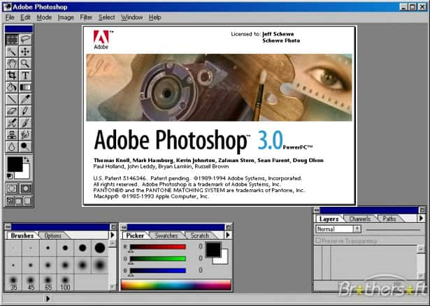 photoshop 3.0 interface