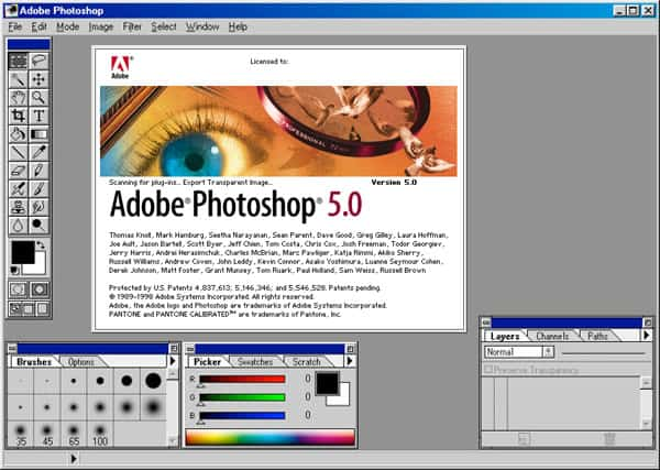 photoshop 5.0 interface